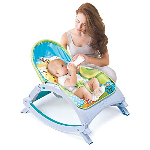 Infant Bouncers & Rockers, Electric Baby Swing Cradle, Portable Baby Automatic Swing & Bouncers, Baby Bouncer Seat Rocking Chair for Sitting up with 8 Soothing Music (Multicolour)