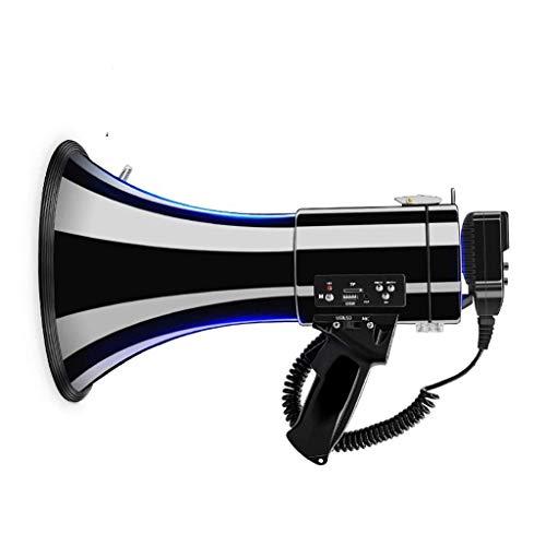 Zixin Hand Megaphon, tragbare Außenlautsprecher, 50W hohe Leistung, Unterstützung USB/TF-Wiedergabe, geeignet for Campus Rundfunk, Supermarkt, szenische Führung