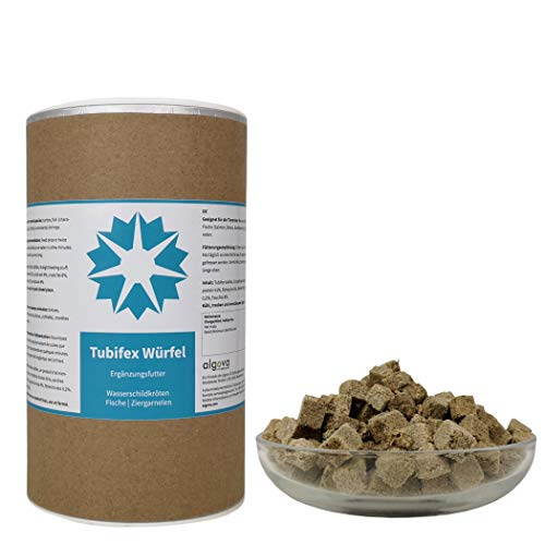 algova® Tubifex Würfel Gefriergetrocknet Fischfutter Schildkrötenfutter (1L = 130g)
