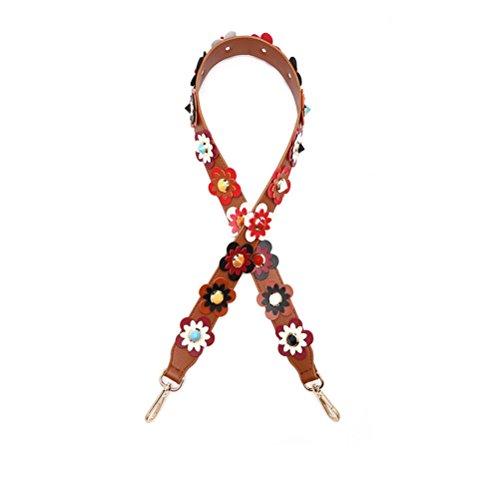 Umily - Tracolla colorata da donna, 105 cm, accessorio unico ed elegante per tutte le borse a tracolla, borse e borse