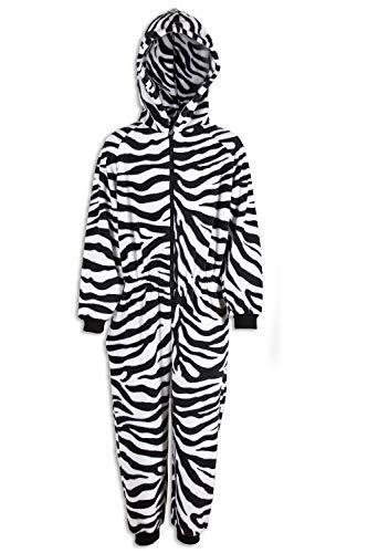 CAMILLE Strampler-Pyjama-Sets für Kinder mit Mehreren Aufdrucken 12-14 Years Black and White Zebra
