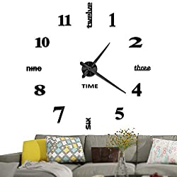 3D large wall clock for living room and deroom wall decoration