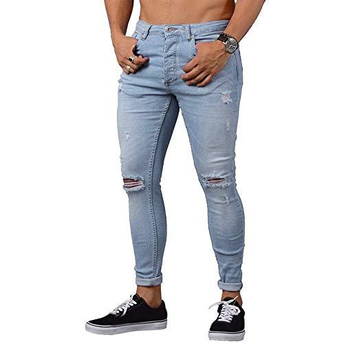 Jeans pour Femmes, YUYOUG Pantalon Skinny En Denim Stretch Pour Homme Pantalon En Jean Coupe Slim Déchiré Freyed Jeans