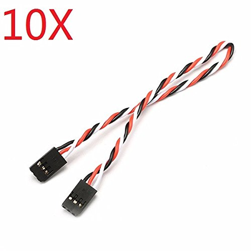 BliliDIY 10X 22Awg 60 Core 30Cm Stecker Auf Stecker Futaba Plug Servo Verlängerungskabel Verdrilltes Kabel