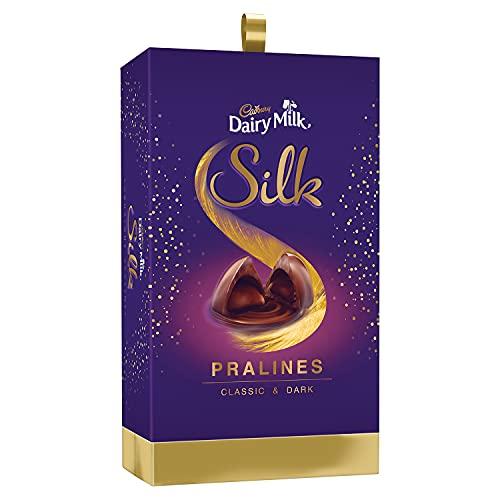 Cadbury Dairy Milk Silk Pralines Chocolate Gift Box, 264g
