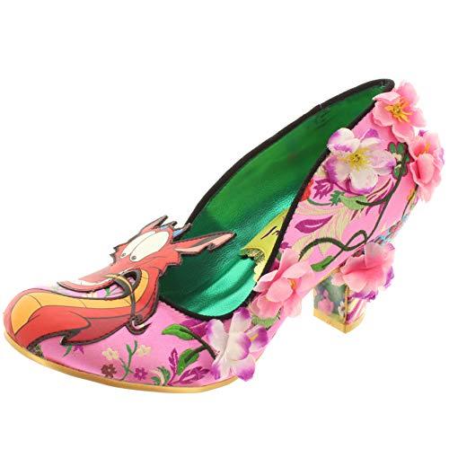 Disney Mulan Damen Pumps Let Dreams Blossom 4255-51A (40 EU, Pink/Weiß, rosa/weiß)