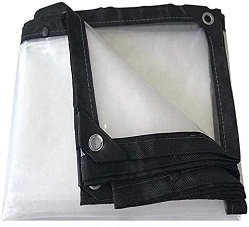 Cubierta de barco portátil impermeable lona, lonas de PVC resistente tejido de polietileno resistente a la lluvia camping ligero transparente tierra cubierta 16x192ft/5x6m, 16x25.6ft/5x8m