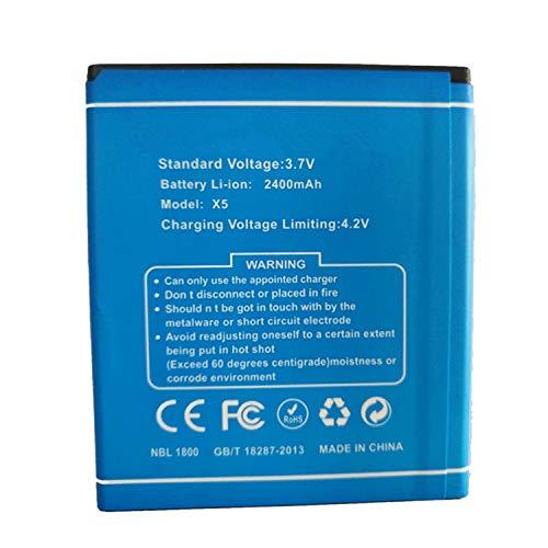 Backupower Ersatz Akku Batterie Kompatibel mit Doogee X5/X5 Pro Red 3.7V 3100mAh