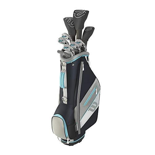 WILSON Ultra XD 2020 Damen Golfschläger Set Mit Carttasche Golf Komplettset Eisen Hölzer Driver Bag Graphit Schaft