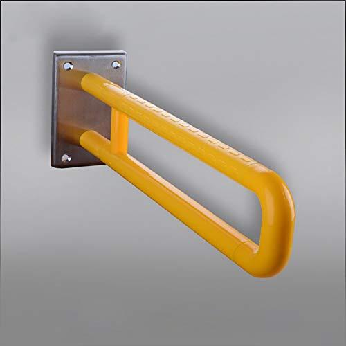 ZHFZD Bad Roestvrij stalen leuning, antislip anti-botsingwc barrièrevrij voor oudere hal wandtoilet trap dubbele greep (kleur: wit) Size geel