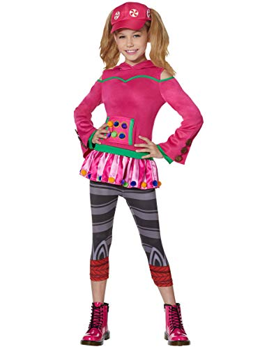 Spirit Halloween Kids Zoey Fortnite Costume | Officially Licensed - L