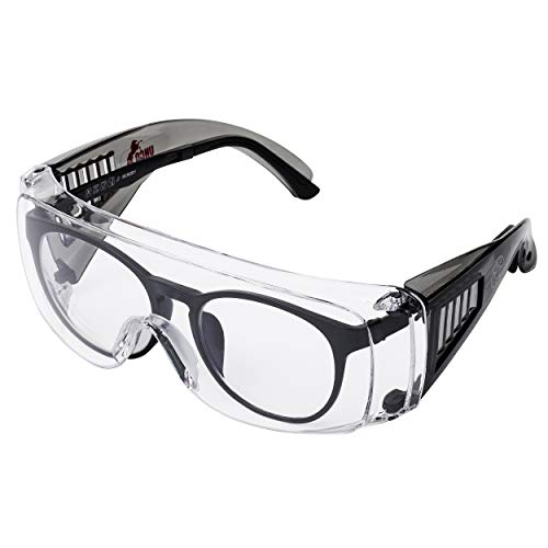 UNCO- Safety Goggles Over Glasses, Protective Goggles, Safety Goggles Anti Fog, Work Glasses, Construction Safety Glasses, Safety Glasses Over Prescription Glasses, Protective Eyewear