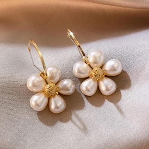 Pendientes largos de perlas salvajes Joyería de moda-20