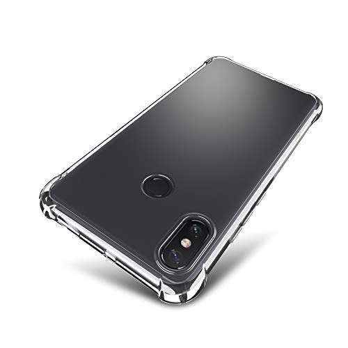 Xiaomi Mi Max 3 Case - SLEO [Air Cushion] Flexible Soft TPU Bumper Case with Shock-Absorption Back Protective Phone Cover for Xiaomi Mi Max 3, Clear
