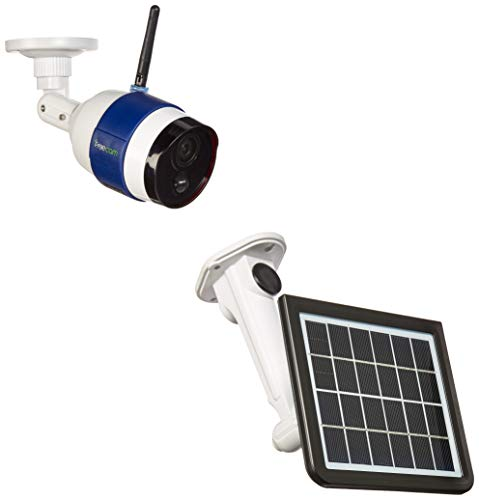 Freecam C340 Solar Powered Wi-Fi Camera Motion-Activated Truly Wireless Home Security Camera with PIR Motion Sensor and Night Vision for Outdoor Use