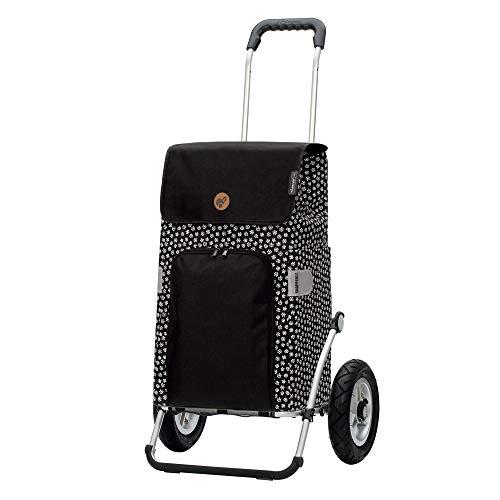 Andersen Carro de Compra Royal Aluminio Plegable con Ruedas neumaticás Ø 25cm y 47 litros Bolsa Mara Negro
