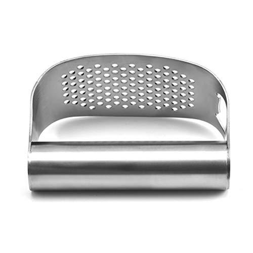 Merkts Prensa de ajos, prensa de ajo de acero inoxidable 304, trituradora y pelador, fácil de usar y limpiar utensilios de prensa de ajos de cocina
