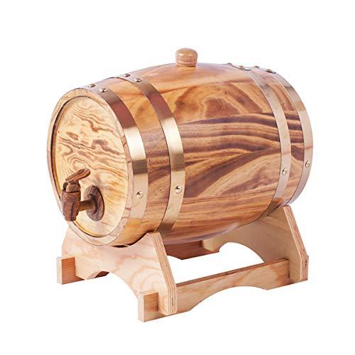 XER 25 Liter Whiskey Barrel Dispenser Hout Eiken Wijnvat Decanter voor het serveren tafel Display Opslag van Geesten, Liquors, Whiskey