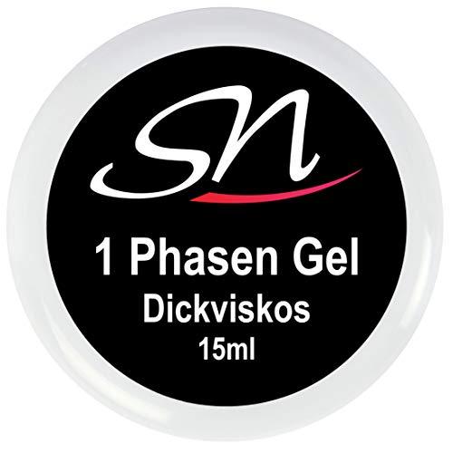 1 Phasen Gel dickviskos 3 in 1 UV Gel für Gelnägel klar 15 ml SN Nageldesign