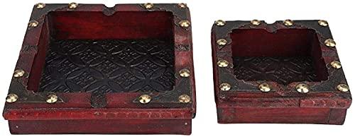 Cenicero de cigarros, la madera maciza es exquisita y práctica, con 4 ranuras, ceniceros antiguos, manualidades, regalos, cafés, tiendas, decoraciones de escritorio, fumadores, ceniceros, oficinas al