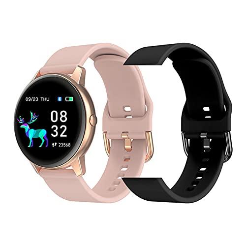 YDK R3 SmartWatch IP68 IP68 Impermeable Modo Multi-Deportes Ratio cardíaco/Monitoreo del sueño Reloj de Mujer Fitness para Android iOS,E