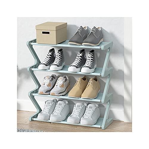 HYAN Zapatero Tela de Zapatos de 4 Niveles Organizador de Almacenamiento de Zapatos de Metal de Tela no Tejida para Sala de Estar de Sala de Estar de Sala de Estar y guardarropa Caja de Zapatos