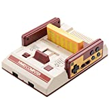24 En 1 Magic Family Computer Famicom Retro Game,Consola Fc Tarjeta Doble Tarjeta Amarilla Tv Video Console Nintendo Rs-37 Con 2 Controladores Clásicos