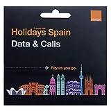 Orange - Tarjeta SIM Prepago Holidays Spain | 40 GB en España | 11 GB en Resto de Europa | Activación Solo Online | Ideal Segunda Línea | Número Móvil Español