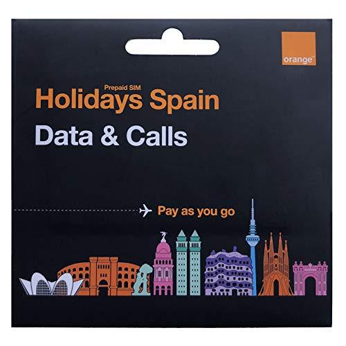 Orange - Tarjeta SIM Prepago Holidays Spain   40 GB en España   11 GB en Resto de Europa   Activación Online   Ideal Segunda Línea   Número Móvil Español