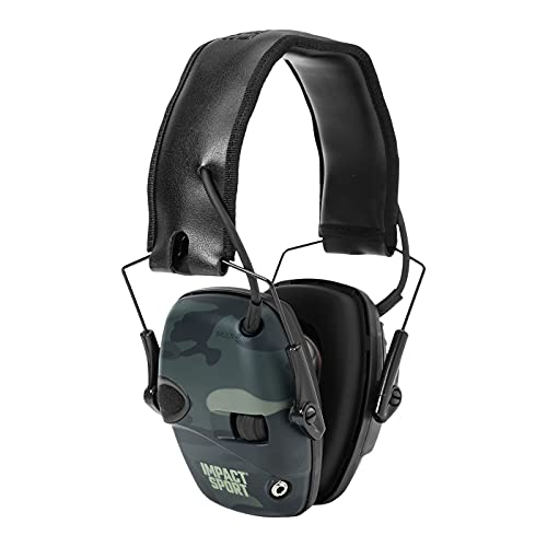 Howard Leight by Honeywell Impact Sport Sound Amplification Electronic Shooting Earmuff, Multicam Black (R-02527)