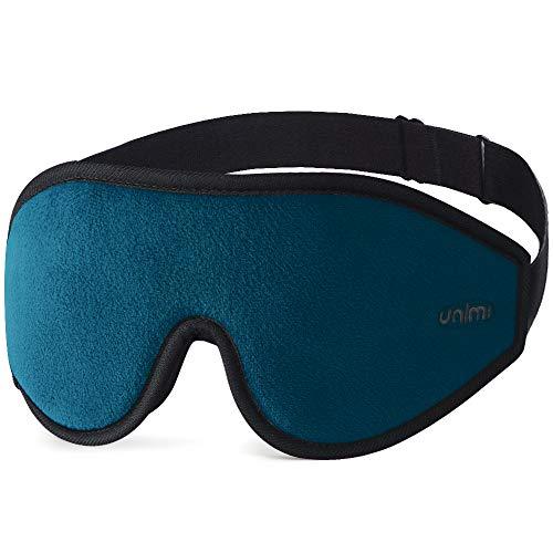 Unimi Premium Schlafmaske Damen und Herren, NULL-Druck 3D konturierte verbesserte Augenmaske, verstecktes Nasenflügel-Design ermöglicht absolute Dunkelheit, 100{87bfe3b6d2fa3ded02b2877b033759c8cd8b34b457ef69388604368b48a4384e} hautfreundliche Seide Augenmaske