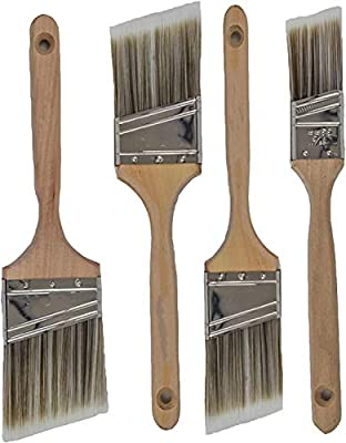 Pro Grade - Paint Brushes - 4 Pack Variety Angle Paint Brushes