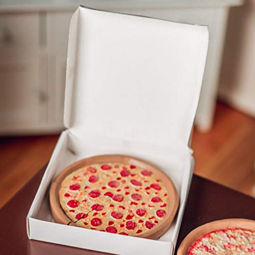 Pizza Queen Delicious Looking 18 Inch Doll Pepperoni Pizza. Pizza Has Cut Slice and Authentic Style Pizza Box. Great Food Accessories Compatible with American Girl Dolls Kitchen & Furniture