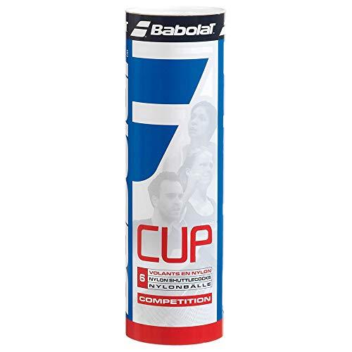 BABOLAT Cup Nylon 6er Pack Federbälle weiss verschiedene Größen, Farbe:weiß, Modell:MEDIUM