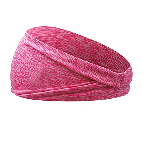 PPLAX Yoga Stirnband Headwrap für Mädchen Haarschmuck Frauen Mode Stirnband Haardekoration Yoga Wide Hair Bands Turban Haarschmuck Zubehör (Color : Red)