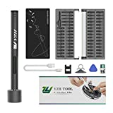 Mini Electric Screwdriver(2nd Generation),Small Electric Screwdriver,Electric Precision Screwdriver Set with 55 Precision Bits LED Light Magnetic Mat,Handy Repair Tool for Phone Watch Camera Laptop