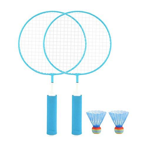 YYDM 1 Paar Kinder Badmintonschläger, Badmintonschläger Toy/Leichte Sportausrüstung/Spiel Fitness, Für Die Ausbildung Indoor- Und Outdoor Sport,Blau
