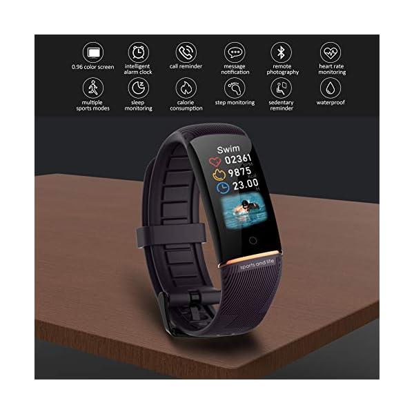 Byttron Fitness Tracker, Reloj Impermeable de Seguimiento de Actividad con Monitor de frecuencia cardíaca, Monitor de… 4