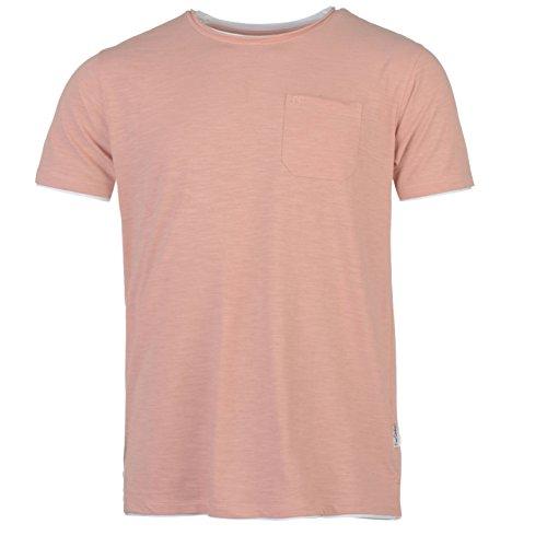 Pierre Cardin Hombre Camiseta Ajuste Regular Bolsillo en el Pecho Falda de Doble Cuello Dobladillo y Puños - Multicolor - Pequeño - Tamaños 3X-Large Disponibles (Medium, Coral Marl)