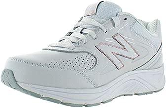 New Balance Women's 840 V2 Walking Shoe, White/Rose Gold, 9 W US