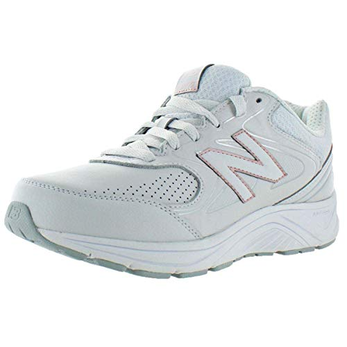New Balance Women's 840 V2 Walking Shoe, Grey/Rose Gold, 10 XW US
