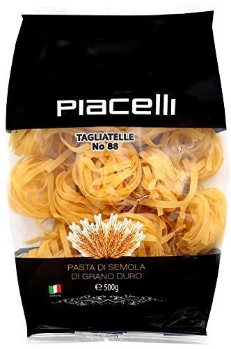 Piacelli Tagliatelle Noodles No 88 Italian Pasta | 1 lb. (500 g.) bag