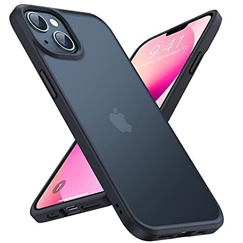TORRAS Militärschutz für iPhone 13 Mini Hülle (Extrem Sturzfest) Unzerstöbare Schutzhülle iPhone 13 Mini Gute Griffig (abnehmbare Knöpfe in drei Farben)Kratzfest Handyhülle iPhone 13 Mini Case Schwarz