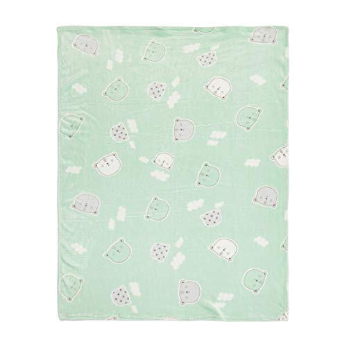 Cobertor De Microfibra Papi Baby Estampado 1, 10M X 85Cm 01 Un, Papi Textil, Verde