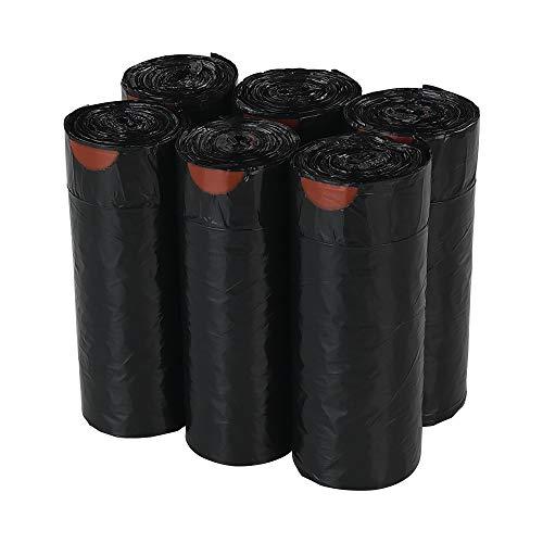Callyne 210 bolsas de basura negras con cordón, 30 litros