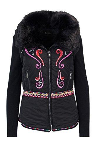 Desigual Margadan Mäntel Damen Schwarz - DE 34 (EU 36) - Daunenjacken Outerwear
