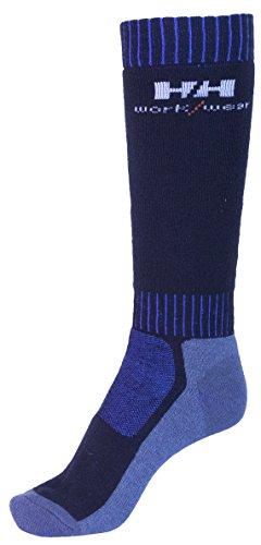 Helly Hansen Workwear 2 Paar Arbeitssocken Lahti Extreme, robuste Socken für Handwerker, Industrie Gr. 36-39, blau, 75735
