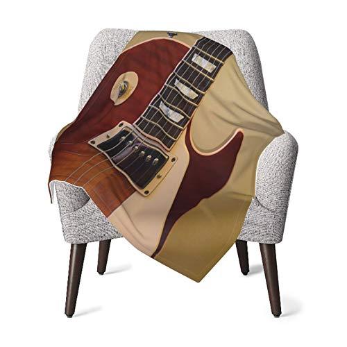 Olverz Manta para guitarra de bebé, instrumento musical vintage, cómoda manta de bebé de felpa gruesa, manta de bebé suave para cochecito de cuna recién nacidos