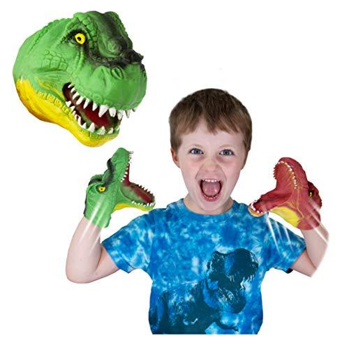 Snap Attack - T-Rex de Deluxebase. Marionetas de Mano para niños. Marionetas de Mano de T-Rex, Juguetes elásticos, geniales para TDAH y Autismo. Juguetes de T-Rex para niños y niñas.