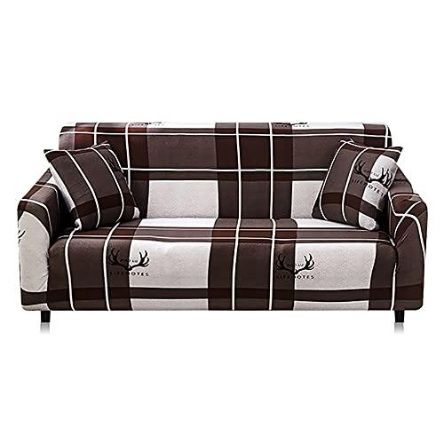 Funda de sofá de algodón elástico elástico para sofá, Fundas de sofá Antideslizantes para Sala de Estar, Totalmente Envuelto, Antipolvo A5, 4 plazas